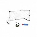 Set Poarta de Fotbal cu Minge si Pompa Soccer Goal Set 120x63x57cm