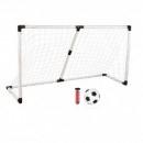 Set Poarta de Fotbal cu Minge si Pompa Soccer Goal Set 186x120x72cm