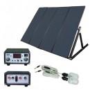 Sistem Solar 4 Panouri 60W, 2 Becuri, USB, Acumulator Neinclus TPS204N