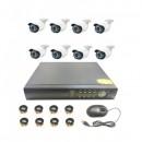Sistem Supraveghere 8 Camere Video CCTV AHD  Interior Exterior L&Z