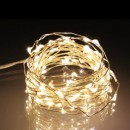Snur Luminos 100 Micro LED Alb Cald 10m Fir Silver 12V IP20