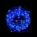Snur Luminos 100 Micro LED Albastre 10m Fir Silver 12V IP20