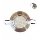 Spot Incastrabil cu 5 LED de 1W Alb Rece 220V 11cm