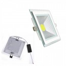 Spot LED Incastrabil 15W Patrat 20x20cm 220V Alb Rece