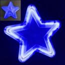 Stea Luminoasa de Craciun 30cm LEDuri Albastre 220V LC