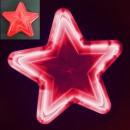Stea Luminoasa de Craciun 30cm LEDuri Rosii 220V LC