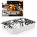 Tava pentru cuptor cu grill detasabil din inox 25cm IGT25 JU