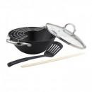 Tigaie wok fonta suport bete capac Bohmann BH60228 28cm 3.6L