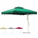 Umbrela de Gradina Patrata cu Picior Lateral si Suport 2.2x2.2m