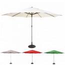 Umbrela de Gradina Rotunda cu Picior si Suport 2.8x2.2m