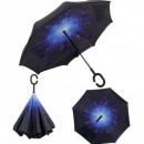 Umbrela de ploaie reversibila 100cm Imprimeu Interior Galaxie UM001