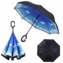 Umbrela de ploaie reversibila 100cm Imprimeu Interior Nori UM001