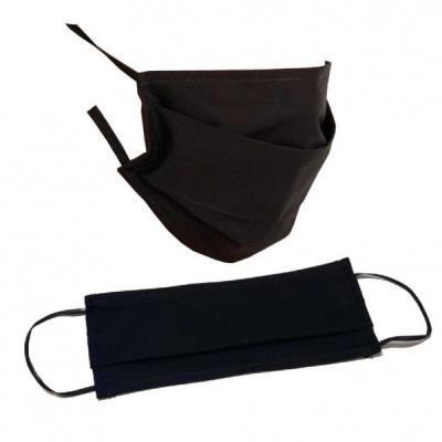 10x Masca Faciala Bumbac Protectie Praf 2Straturi 2 Pliuri Negru