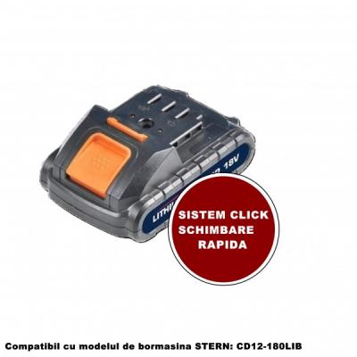 Acumulator 18V 1.5A pentru Bormasina Stern BPCD12180LIB