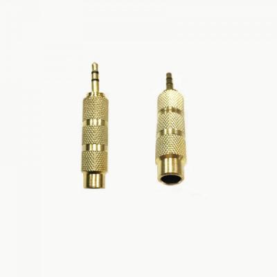 Adaptor  Metalic Jack pentru Microfon Mama 6.3mm Tata 3.5mm
