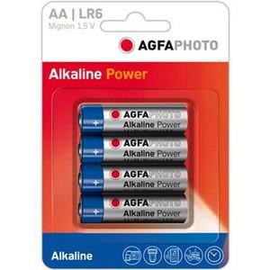 Agfa alkaline power set 4 baterii 1.5 v lr6 aa
