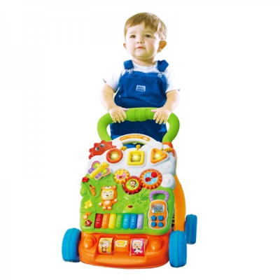 Antepremergator Copii Multifunctional si Interactiv Piano Walker 2301