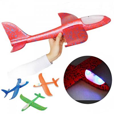Avion Planor din Spuma Flexibila, Iluminat cu LEDuri 47x48cm A08568