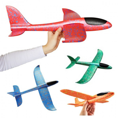 Avion Planor din Spuma Flexibila 47x48cm