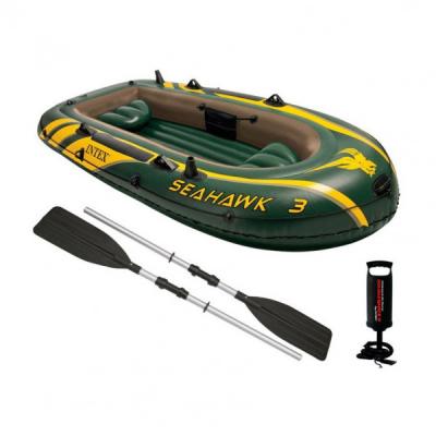 Barca Pneumatica cu Vasle si Pompa 3 persoane Seahawk 3 Intex 68380