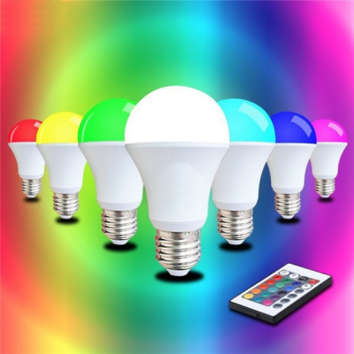 Bec LED 5W RGB cu Telecomanda Glob Mat Soclu E27 220V