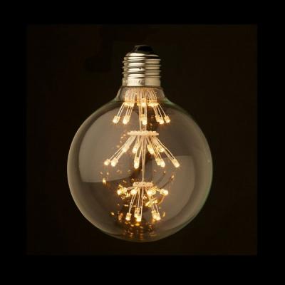 Bec LED Decorativ Edison Vintage 4W Alb Cald E27 Rotund 8x13cm