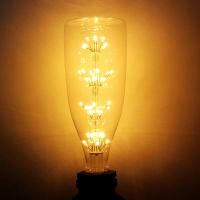 Bec LED Decorativ Edison Vintage 4W Alb Cald E27 Sticla Bere 22x8cm