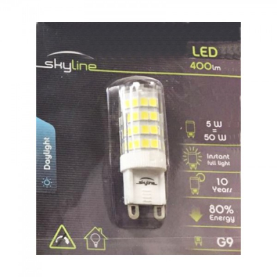 Bec LED SMD 5W Bulb Alb Rece 6500K G9 220V Skyline SL1389