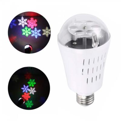Bec Proiector Craciun Fulgi de Nea Color E27 Led Bulb