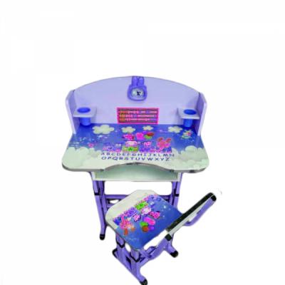 Birou Copii cu masuta, etajera si scaun KT0539 Albastru