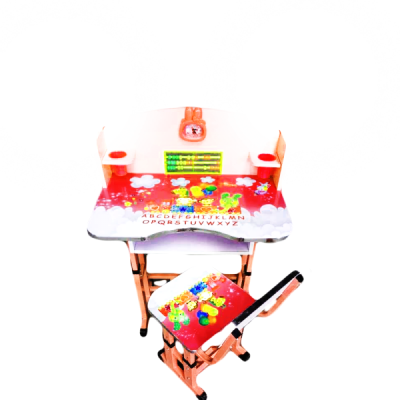 Birou Copii cu masuta, etajera si scaun KT0539 Rosu