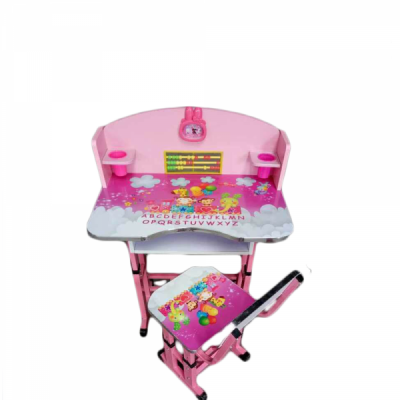 Birou Copii cu masuta, etajera si scaun KT0539 ROZ