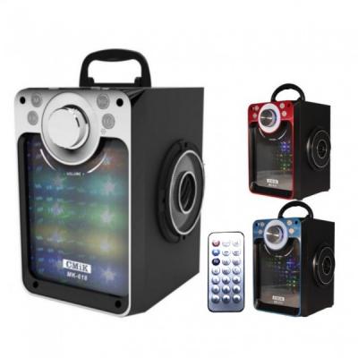 Boxa Portabila Bluetooth Telecomanda USB SD Radio AUX 17x24cm MK618BT