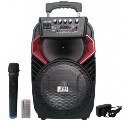 Boxa Portabila cu BT, FM, USB, SD, MIC si Telecomanda JRH A82