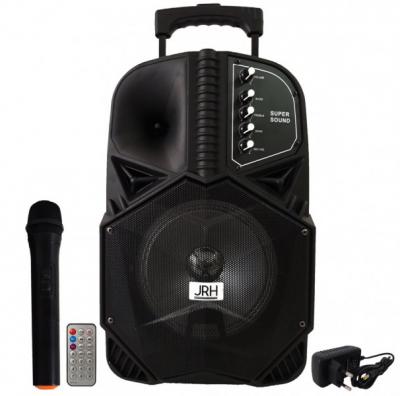 Boxa Portabila cu BT, FM, USB, SD, MIC si Telecomanda JRH A85