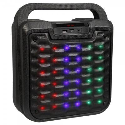 Boxa Portabila Iluminata cu Radio FM SD USB MP3 AUX B19