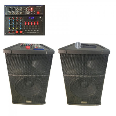 Boxe Audio Active BT, Radio USB TF Mixer 2Mic, 12 Inch Vlliodor DS3012