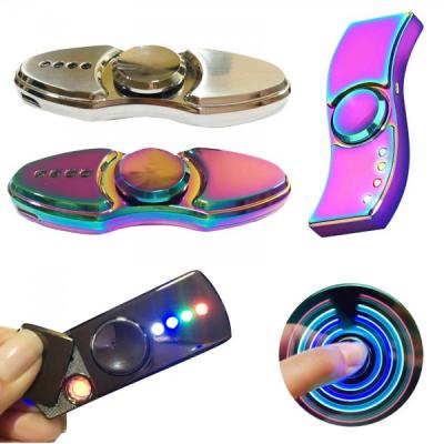 Bricheta Electrica USB Spinner Luminos Cadouri Barbati