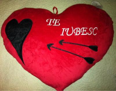 Cadou Valentine's Day Pernuta Inima Rosie Te Iubesc