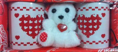 Cadou Valentine's Day set doua Cani si Ursulet de Plus M158