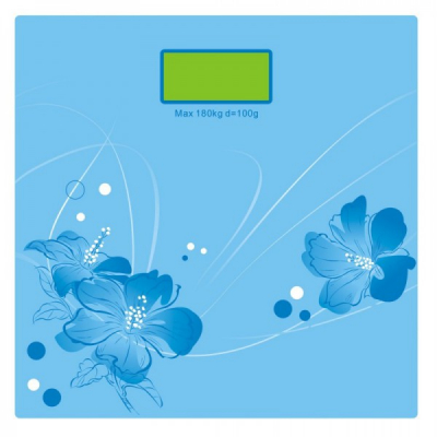 Cantar Corporal Digital Platforma de Sticla Victronic RSP31 Bleu