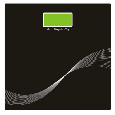 Cantar Corporal Digital Platforma de Sticla Victronic RSP31 Negru