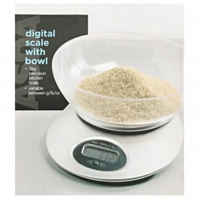 Cantar de bucatarie electronic cu Bol Plastic 5kg ASDA
