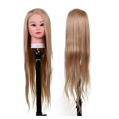 Cap de Practica Pupeta Coafor cu Suport Par Blond 80cm 4A80