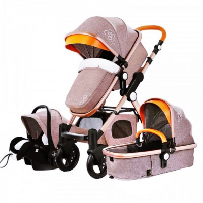 Carucior Multifunctional 3in1  JU Golden Baby T800 Bej