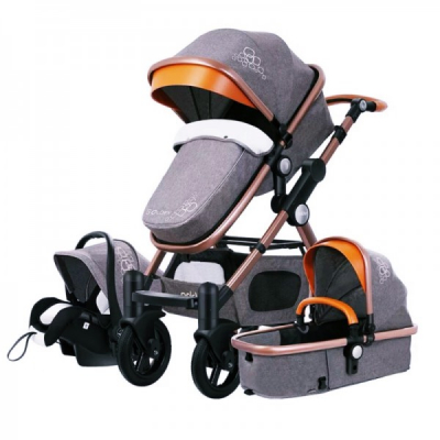Carucior Multifunctional 3in1 JU Golden Baby T800 Gri