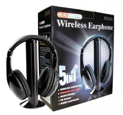 Casti Wireless 5in1 cu Radio FM