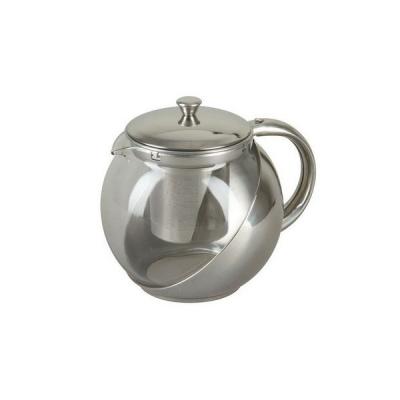 Ceainic cu sita  infuzor din inox si sticla Rainstahl RSTP720190 900ml