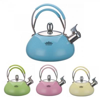Ceainic din Inox Colorat cu Fluier 3L Peterhof PH15530
