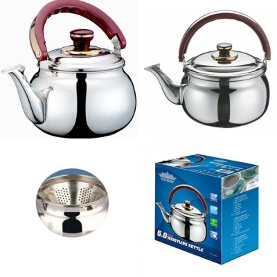 Ceainic din inox cu fluier 3L Peterhof PH1444
